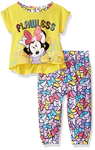 Disney Baby Girls' Minnie Mouse 2-Piece Top and Jogger Pant Set, Aurora, 24m