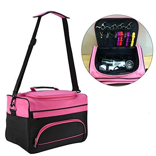 Hairdressing Tools Storage Carrying Case, Hairdresser Designer Session Bag Large Mobile Hair Salon Kit Holder (Mobile Essentials Travel Case)