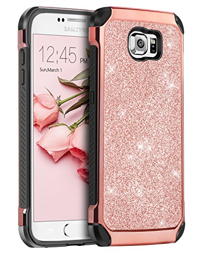 Galaxy S6 Case, Samsung S6 Case, BENTOBEN 2 in 1 Luxury Glit