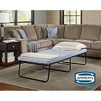 Simmons Beautysleep Single Size Foldaway Guest Bed Cot with Memory Foam Mattress