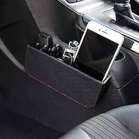 Pouybie Car Bin Black Car garbage Trash Bin for Travel Car Storage Car Interior Accessories for Diver