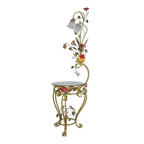 QPSGB Lámpara de pie Flor de jardín Sala de Estar Dormitorio ...