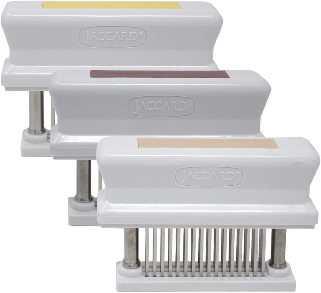 Jaccard 48-Blade Meat Tenderizer, HACCP Color Coded Meat Tenderizer, 1.50 x 4.00 x 5.75 Inches, Red – Beef, Yellow – Poultry, Tan - Pork