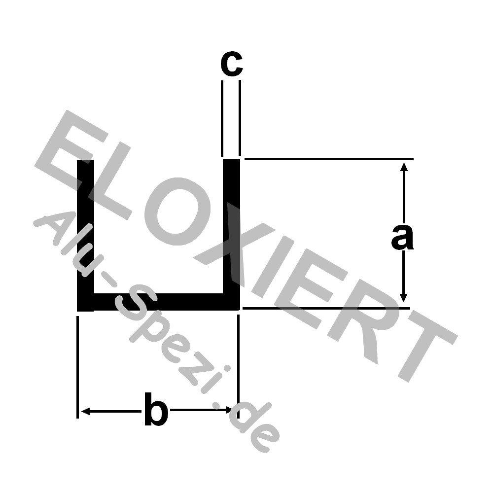 Hervorragend GAH Alberts U-Profil selbstklemmend aus Aluminum, 8,9x10x1,5/2m  PT38