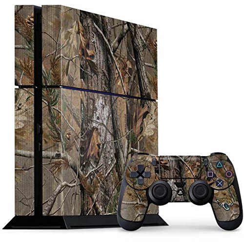 Skinit NFL Jacksonville Jaguars PS4 Console and Controller Bundle Skin - Jacksonville Jaguars Realtree AP Camo Design - Ultra Thin, Lightweight Vinyl Decal Protection