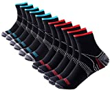 Men's Low Cut Socks 10-Pack Ankle Length Athletic Crew Socks Moisture Wicking