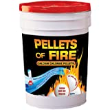 Pellets of Fire Snow & Ice Melter 50 Pound Bucket of Calcium Chloride Pellets CPP50
