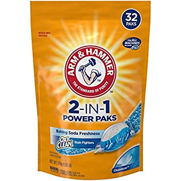 Arm & Hammer 2-IN-1 Laundry Detergent Power Paks, ...