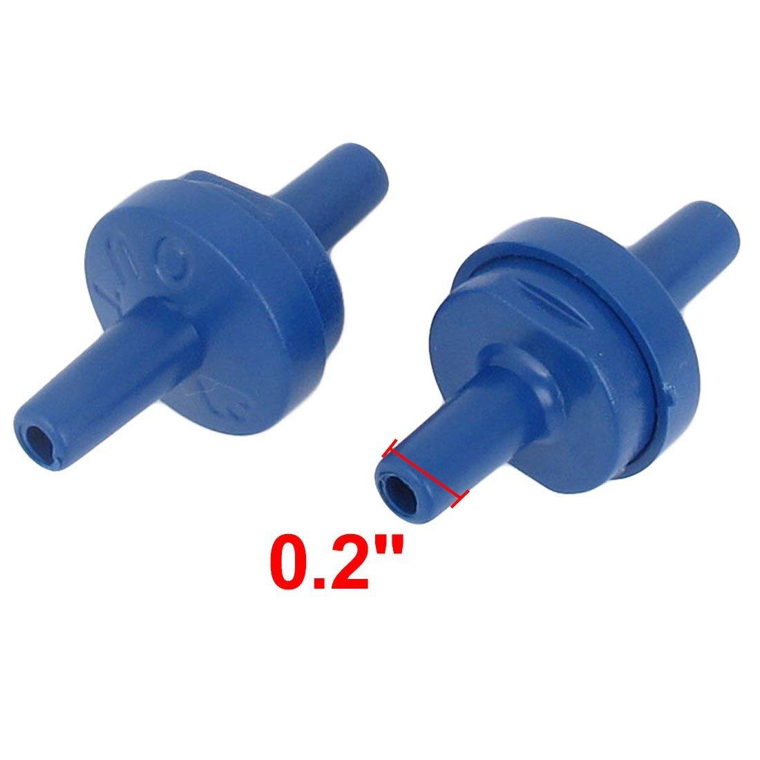 Amazon.com : eDealMax 7 pieza de plástico acuario Bomba de aire No retorno unidireccional de válvulas de retención, Azul : Pet Supplies