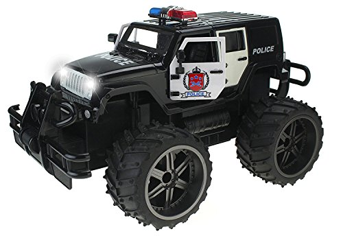 Used, Jeep Wrangler Police Unit 1:14 Scale Battery Operated for sale  Delivered anywhere in USA
