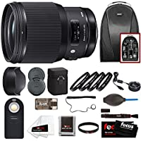 Sigma 85mm f/1.4 DG HSM Art Lens for Canon EF w/ 32GB SD Card Travel Bundle