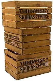 Cajas de fruta de madera, estilo rústico, 3 unidades49 x 42 x 31 cm. Cajas de fruta de estilo rústico.: Amazon.es: Hogar