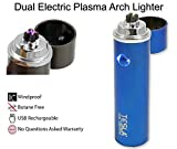 Tesla Coil Lighters™ 360° Dual Arc USB Rechargeable Windproof Electrical Plasma Arc Lighter - Choose Your Color (Blue)