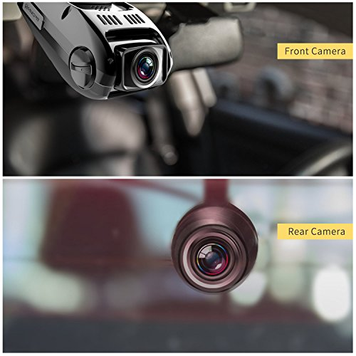 Dual Dash Cam Tryace T8P Full HD1080P 170 Degree Wide Angle Dashboard Camera Recorder With G SensorWDRLoop RecordingSuper Night Vision Front And Rear Car Dash Camera