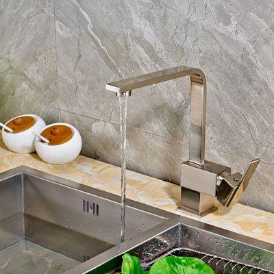 CZOOR Große Förderung Bestee Qualität Wasser-Hahn mit heißem kaltem Wasser für Küche Brushed Nickel, gebürstet 1