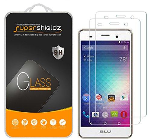 [2-Pack] Supershieldz for BLU 'Advance 5.0 HD' Tempered Glass Screen Protector, Anti-Scratch, Anti-Fingerprint, Bubble Free, Lifetime Replacement Warranty