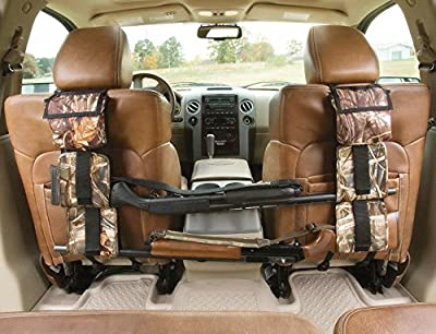 1 Pair of Ishowstore Car Back Seat Gun Sling Hanger, Truck Shotgun Rifle Firearm Carrier Support Holder Organizer for Hunting