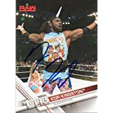 Kofi Kingston Autographed Wrestling Card WWE Superstar New Day Topps 2017 #22