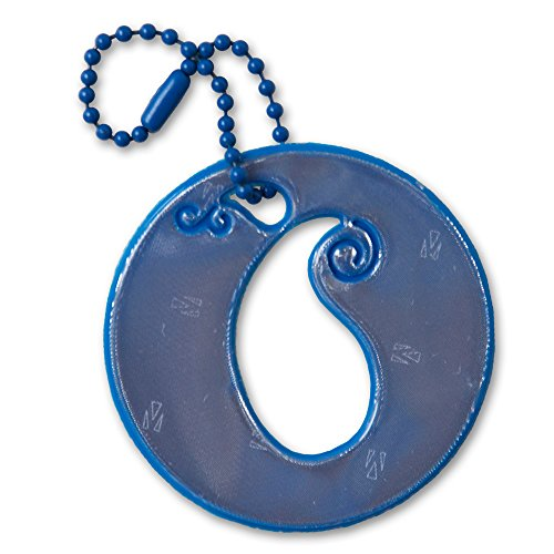 [funflector Reflector - Paisley Purse Charm - French Blue] (College Student Halloween Safety Tips)
