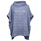 Product review for Sexybody Women's Crop Top Loose Turtlenrck Crochet Poncho Short Sleeves Batwing Cozy Pullovers Sweater