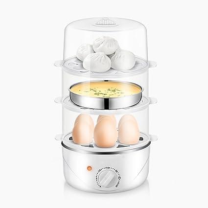 Caldera De Huevos Eléctrica Vapor De Alimentos Multifunción De Tres Niveles Con Capacidad Para 7 Huevos