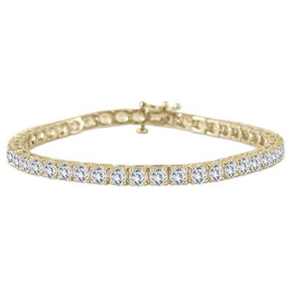 Triostar Valentine Day Special 925 Sterling Silver Simulated Elegant Designer Link Bracelet AKB117