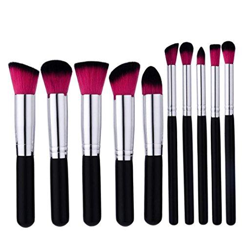 Goddessvan Makeup Brushes 10PCS Make Up Foundation Eyebrow Eyeliner Blush Cosmetic Concealer Brushes