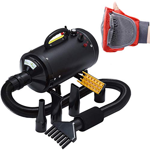 Pet Dryer Dog Cat Hair Blower, Grooming Professional 4HP Forced Air Dryer for Dogs with Heating, for...