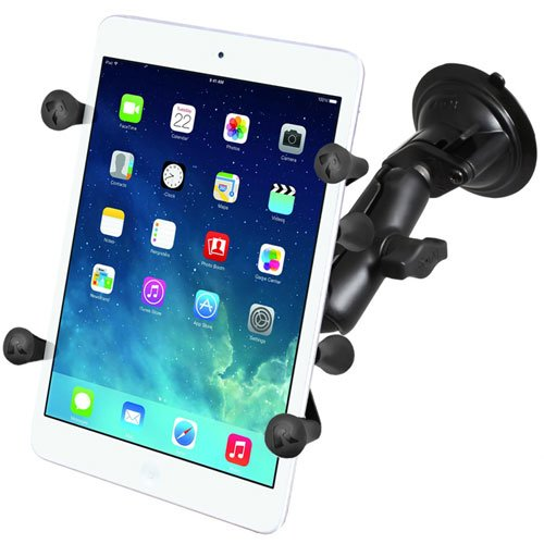 RAM Mounts (RAM-B-166-UN8) Twist Lock Suction Cup Mount with Universal X-Grip Ii Holder for 7