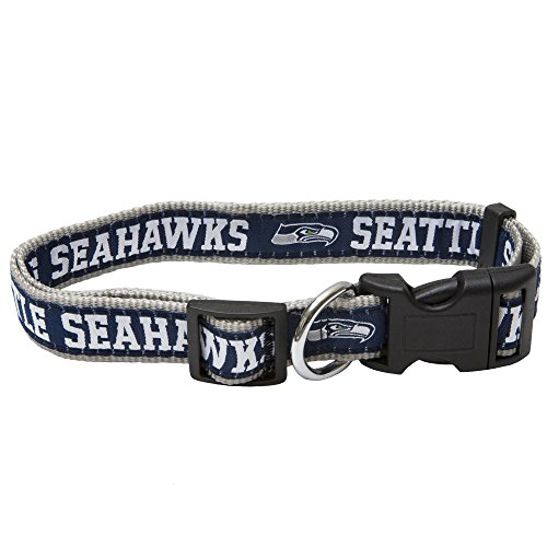 Pets First NFL Seattle Seahawks Pet Collar, Medium