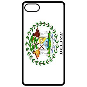 Belize Coat Of Arms Flag Emblem Black Apple Iphone 5 Cell Phone Case - Cover