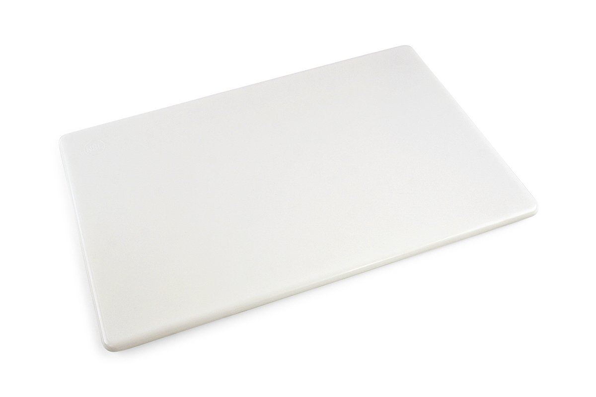 Commercial Plastic Cutting Board, NSF, 18 x 12 x 0.5 Inches, White by Thirteen Chefs
