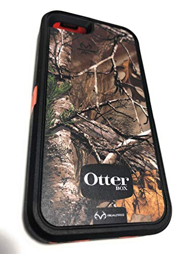 (OtterBox Made in The USA Defender Series Case with Realtree Camo for Apple iPhone 5 (Case Only - Holster NOT Included) (Black - Orange))