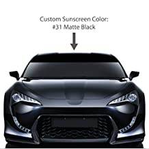"10"" x 72"" Windshield Sun Visor Screen. / MATTE BLACK / Vinyl Stripes & Decals. / Custom Made for: Cars, Trucks, Auto, Vehicles, & Vans. / universal sticker stripe decal. / By 1060 Graphics."