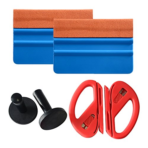VINYL FROG Car Wrapping Tool Kits Felt Squeegee,Magnet Holder, Snitty Vinyl Cutter For Vehicle Vinyl Application Window Tint Installation Tool 1 Set (Take Of Glass Out Scratches)