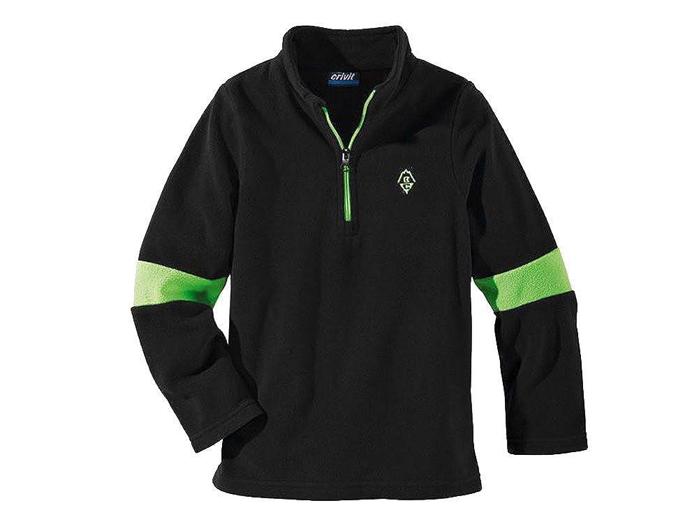 Kleinkinder Jungen Fleeceshirt Fleece Pullover Sweatshirt Schwarz Grün größe wählbar