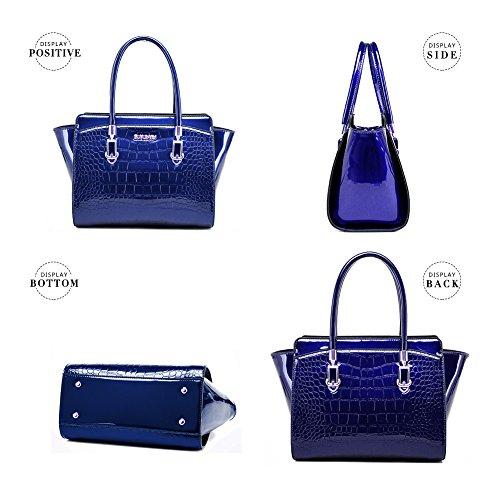 Moda Messenger Averil Tracolla 6 Casuale In Rossi G Pelle Lady Borsa Di Blu Colore Donna Z6gUwq0r6