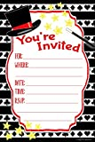 Magic Birthday Party Invitations - Fill In Style (20 Count) With Envelopes