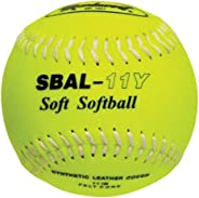 Markwort Safety Lightweight 1 Dozen Softball, Yellow