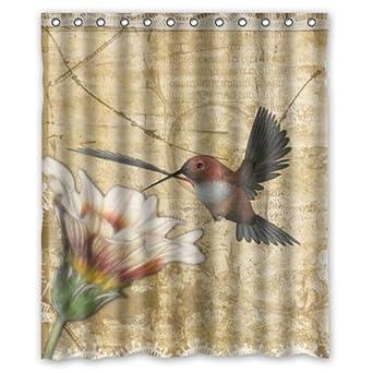 Amazon Best Funny Novelty Hummingbird Shower Curtain