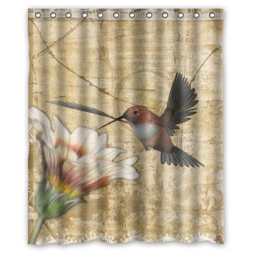 Superbe Best Funny Novelty Hummingbird Shower Curtain, Shower Rings Included 100%  Polyester Waterproof 60u0026quot;