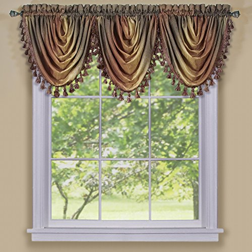 Achim Home Furnishings, Autumn Ombre Waterfall Valance