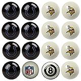 NFL Minnesota Vikings vs Indianapolis Colts Pool Ball Billiard Set