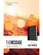 The Message Deluxe Gift Bible (Leather-Look, Black/Slate): The Bible in Contemporary Language