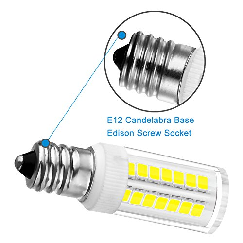KINDEEP E12 LED Candelabra Bulb for Ceiling Fan Light, 40W Incandescent Bulb Equivalent, 6-Pack