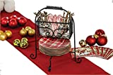 Picnic Plus Wrought Iron Festiva Dish Caddy Dish & Utensil Caddy Flatware Caddies Made in USA