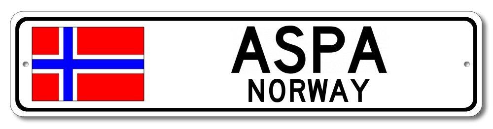 Amazon com: The Lizton Sign Shop Aspa, Norway Aluminum
