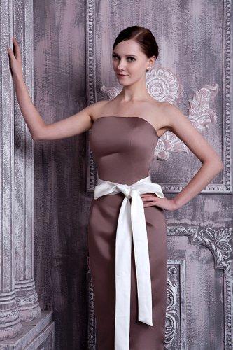 Braun Schleife Abendkleid Schlank mit Einfache GEORGE reizend BRIDE pxq7PBww0