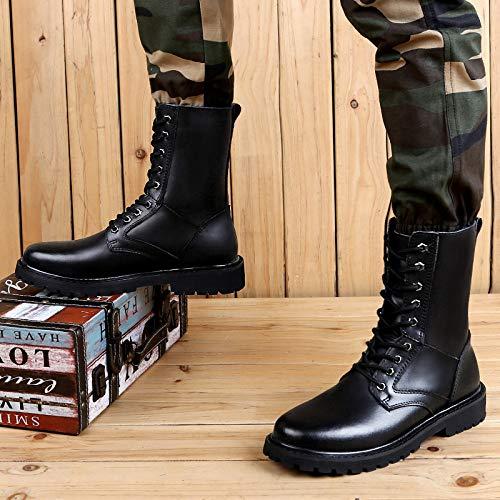 Escursionismo Lavoro Combattere Campeggio Aperta HGDR Lace Sport Militare Leather Dell'esercito Desert Black02 All'aria Boots Uomini Stivali Up Gli Tattici zSnz87P
