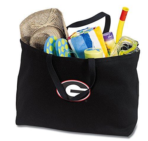 - Jumbo Georgia Bulldogs Tote Bag or Large Canvas University of Georgia Shopping Bag